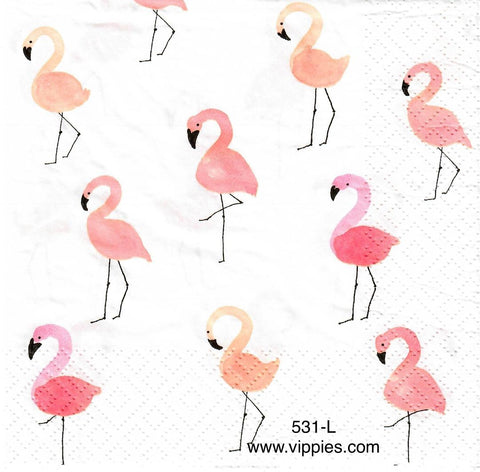 BB-531 Multi Flamingos Napkin for Decoupage