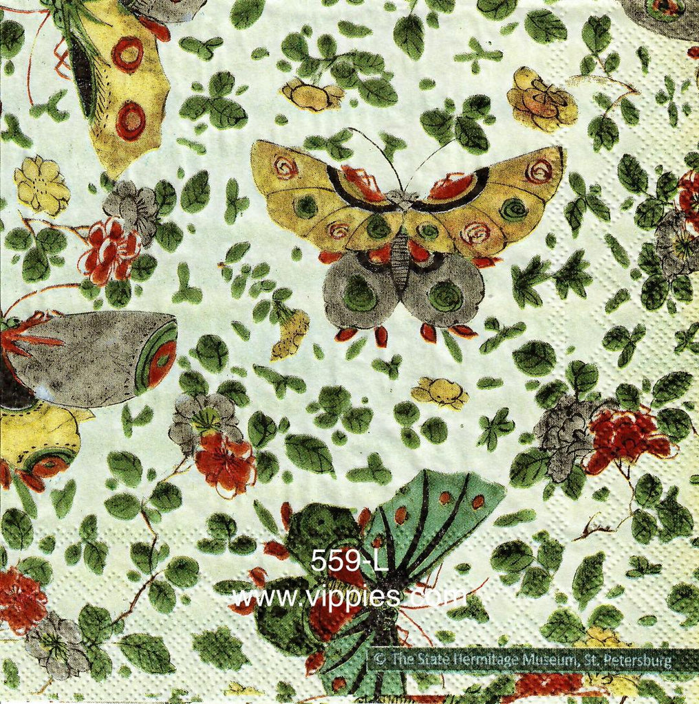 BB-559 Heritage Butterflies Napkin for Decoupage