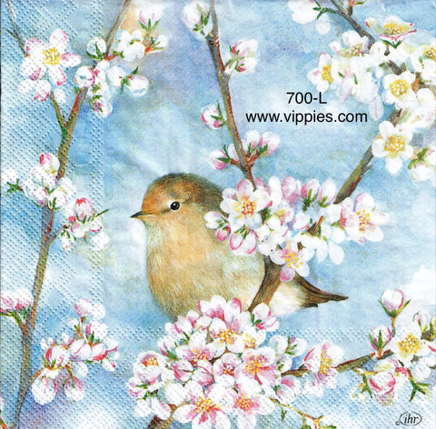 BB-700 Harmony Bird Dogwood Napkin for Decoupage