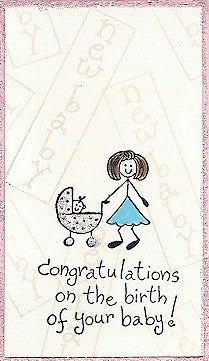 Baby in Buggy Rubber Stamp 2474D