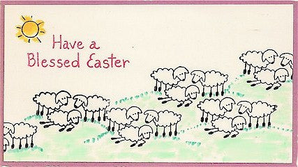 Blessed Easter Rubber Stamp 2468C