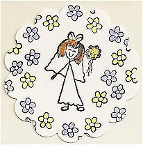 Bride Rubber Stamp 2366D