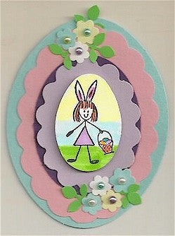 Bunny Gal Rubber Stamp 2290D