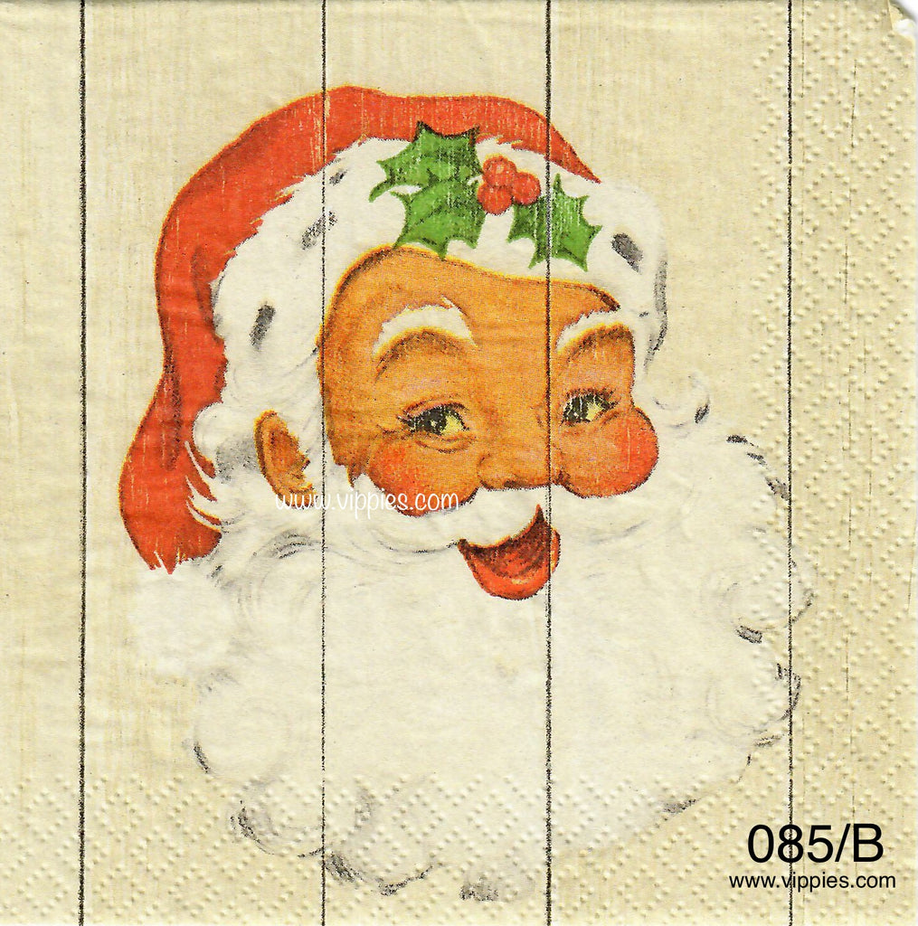 C-085 Santa Plank Napkin for Decoupage