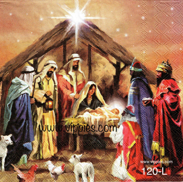 C-120 Nativity Collage Napkin for Decoupage