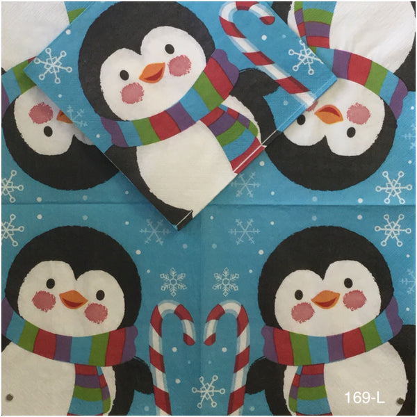 C-169 Large Penguin Napkin for Decoupage