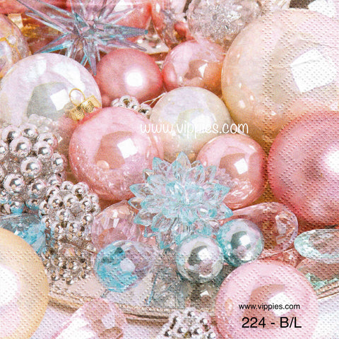 C-224 Pink Ornaments Napkin for Decoupage