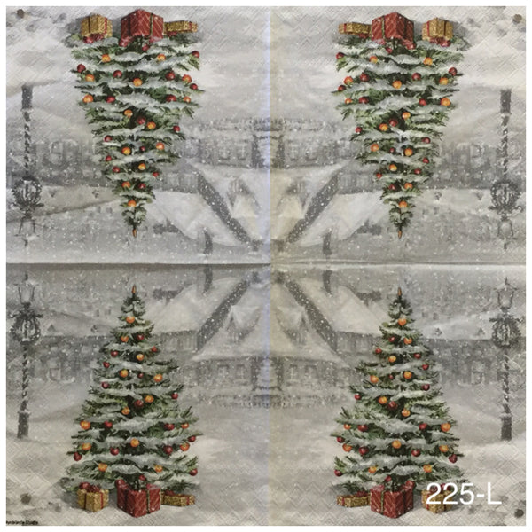 C-225 Christmas Tree Outside Napkin for Decoupage