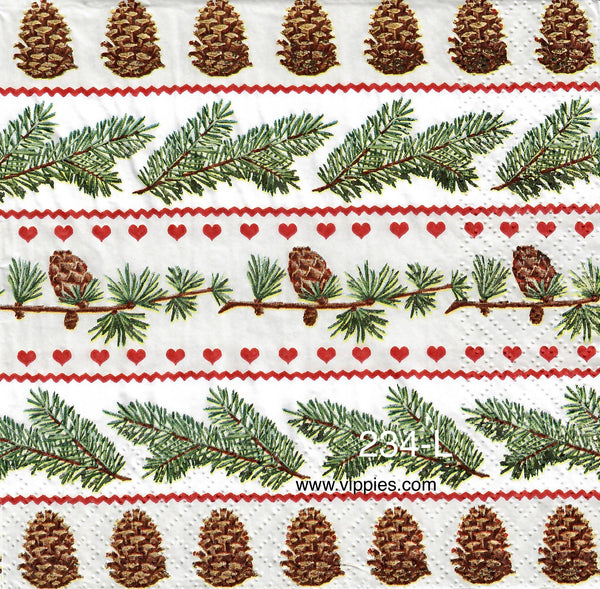 C-234 Pine Cones and Branches Napkin for Decoupage