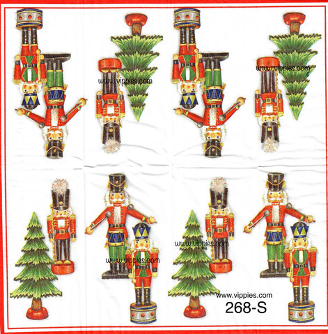 C-268 Nutcracker Sniffer Napkin for Decoupage