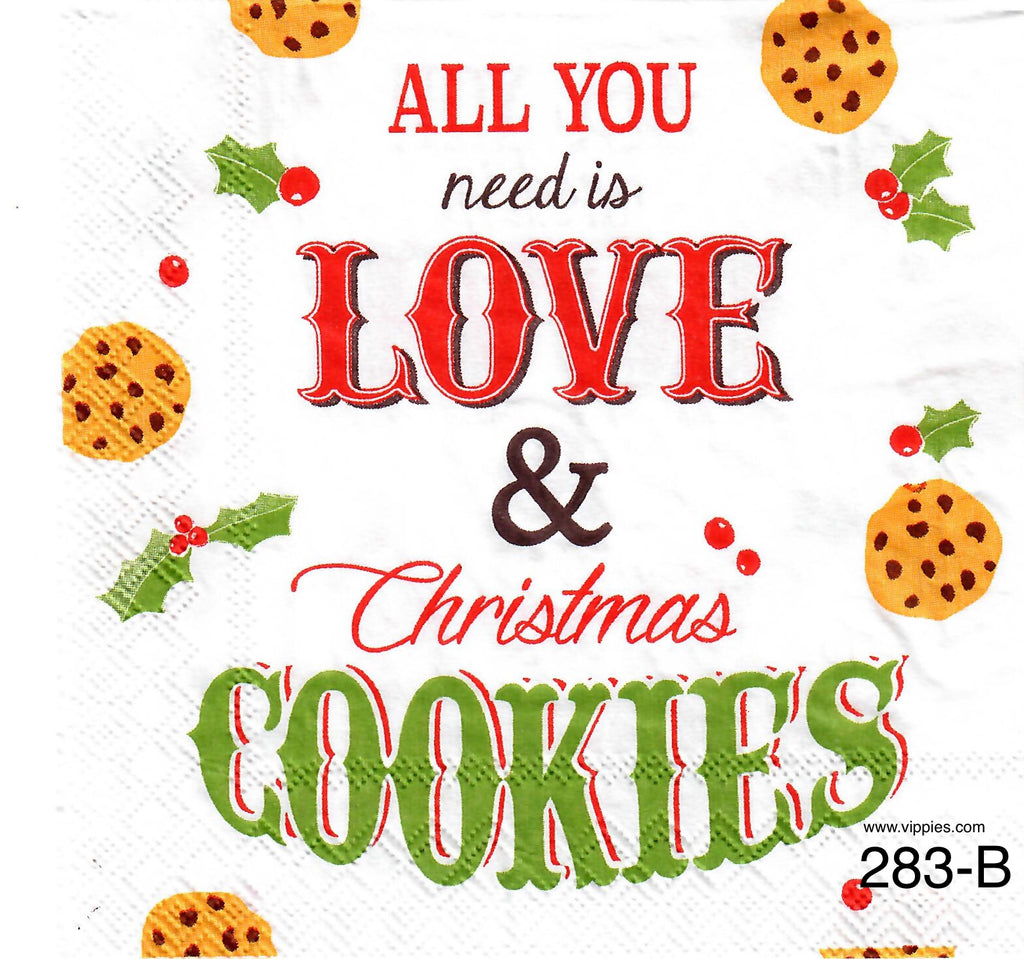 C-283 Love and Cookies Napkin for Decoupage