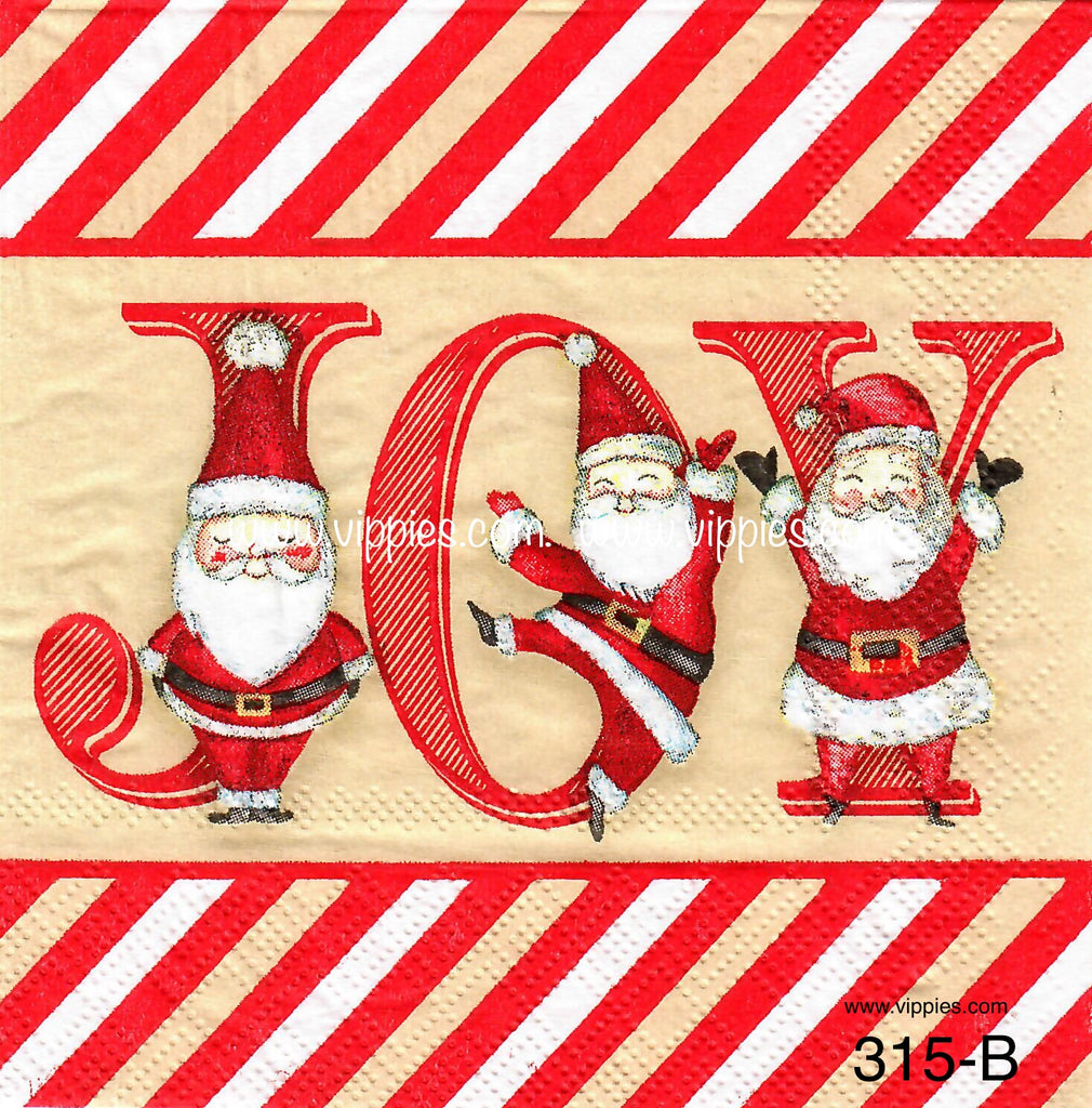 C-315 Santa Joy Napkin for Decoupage
