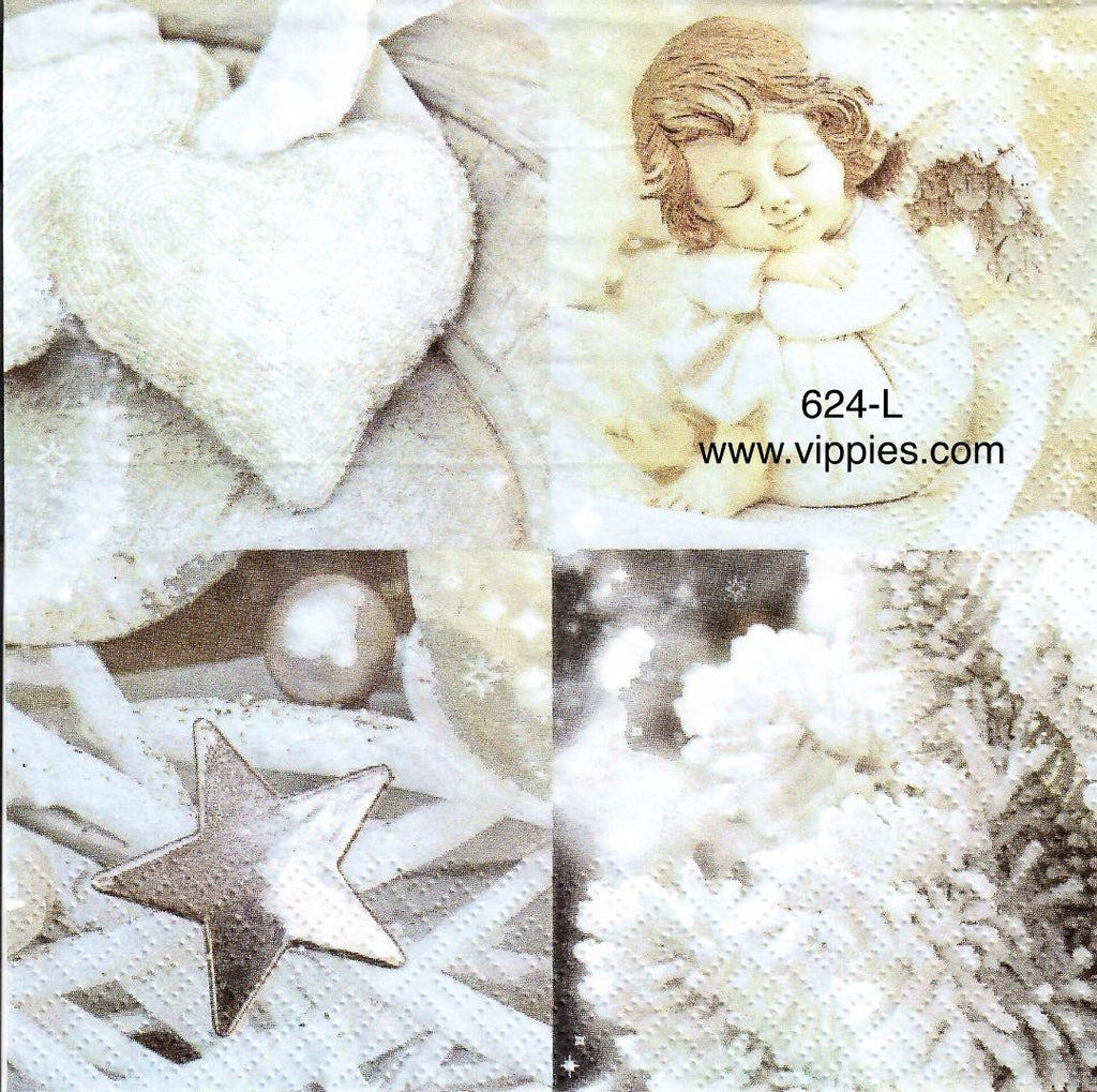 C-624 Angel Squares Napkin for Decoupage