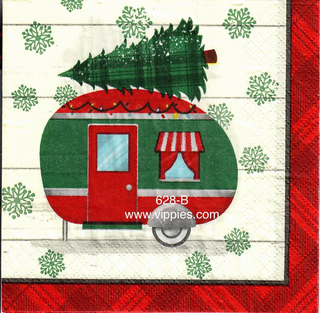 C-628 Camper Tree Napkin for Decoupage