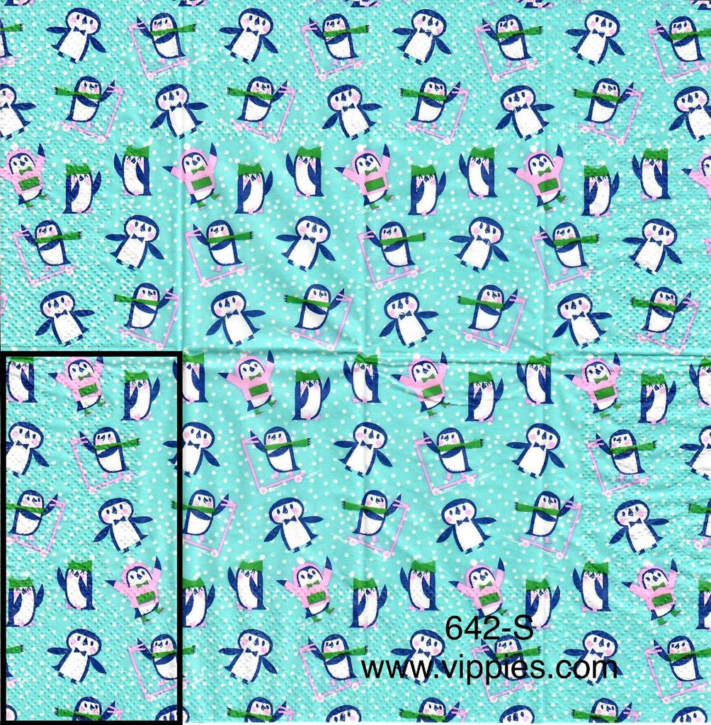 C-642 Penguin Background Sniffer Napkin for Decoupage