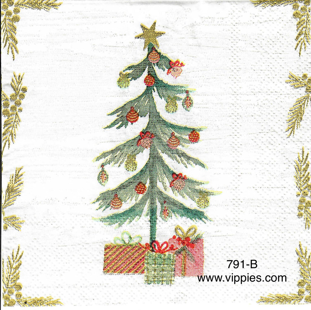 C-791 Feather Tree Napkin for Decoupage