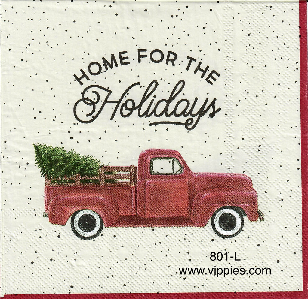 C-801 Pickup Home for the Holidays Napkin for Decoupage