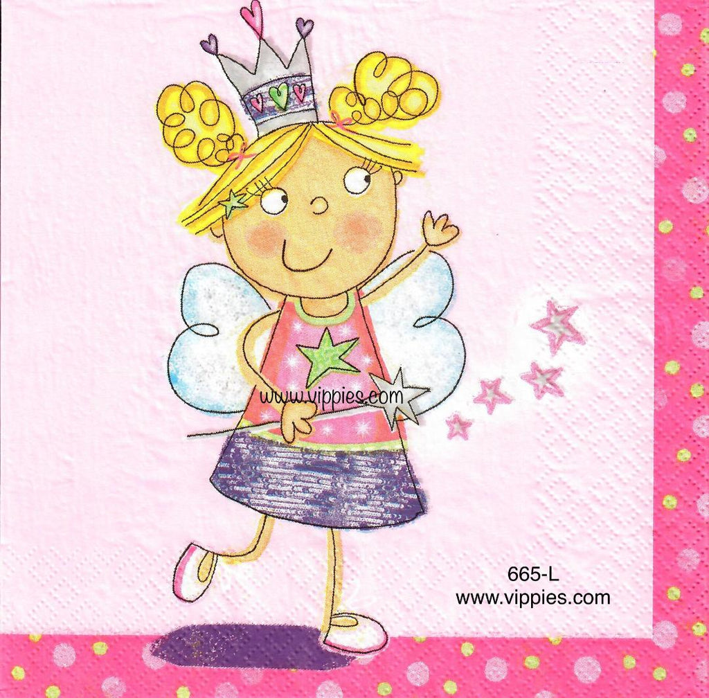 CHILD-665 Magic Fairy Napkin for Decoupage