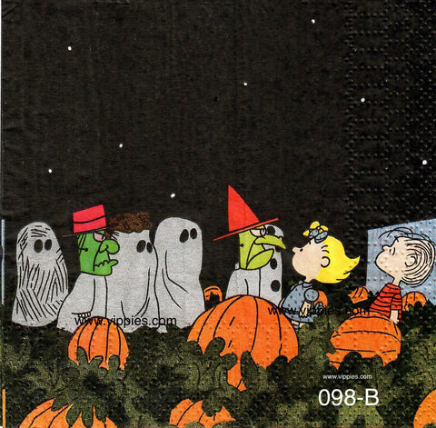 CTN-098 Peanuts Halloween Pumpkin Patch Napkin for Decoupage