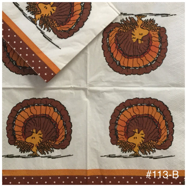 CTN-113 Woodstock Turkey Napkin for Decoupage