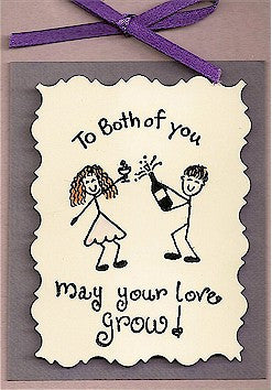 Cheery Couple Rubber Stamp 2339D