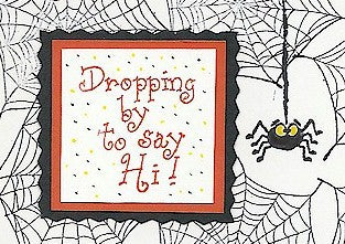 Dropping By Rubber Stamp 2360D