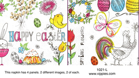EAST-1021 Very Happy Easter Napkin for Decoupage