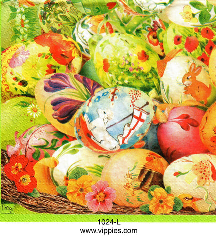 EAST-1024 Painted Eggs Napkin for Decoupage