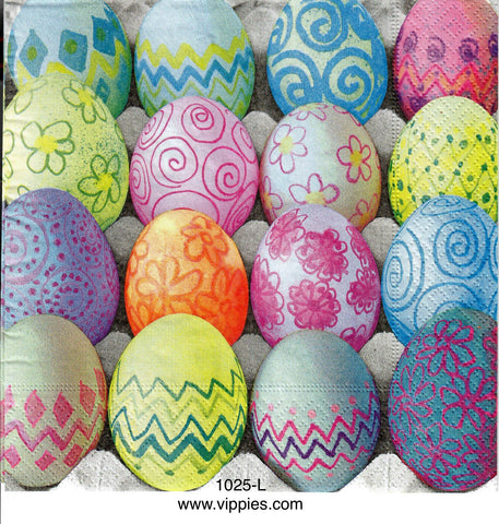 EAST-1025 Decorated Colored Eggs Napkin for Decoupage