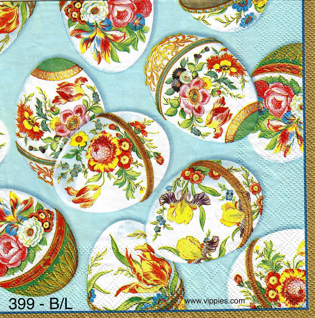 EAST-399 Faberge Easter Eggs Napkin for Decoupage