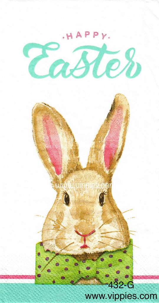 EAST-432 Happy Easter Bunny Napkin for Decoupage