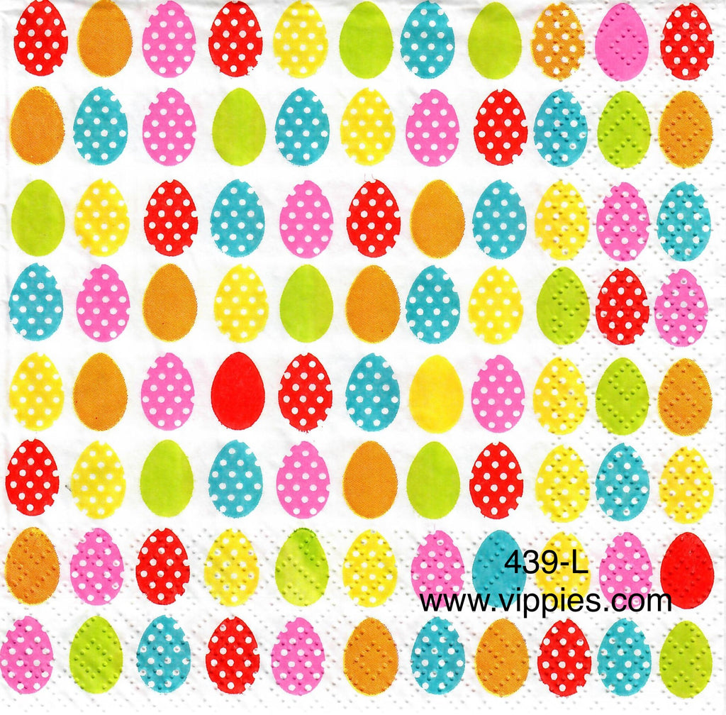 EAST-439 Dotted Eggs Napkin for Decoupage
