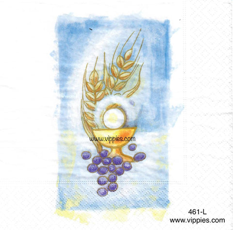 EAST-461 Peace Communion Napkin for Decoupage