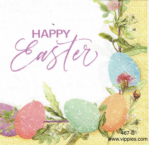 EAST-467 Burlap Happy Easter Napkin for Decoupage