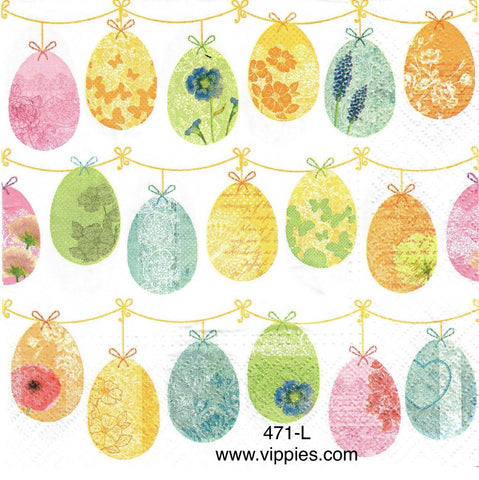EAST-471 Hanging Balloon Eggs Napkin for Decoupage