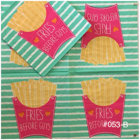 FD-053 French Fries Napkin for Decoupage