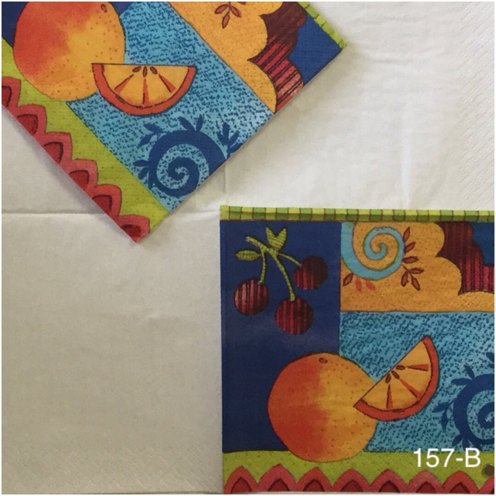 FD-157 Fruit Collage Napkin for Decoupage