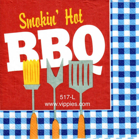 FD-517 Smokin Hot BBQ Napkin for Decoupage