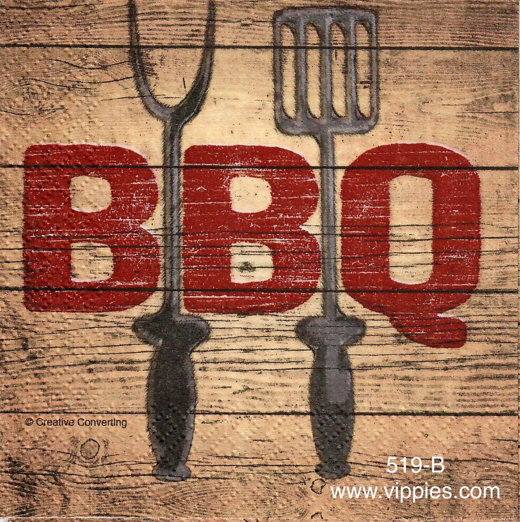 FD-519 BBQ Forks Napkin for Decoupage