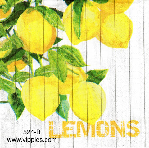 FD-524 Hanging Lemons Napkin for Decoupage