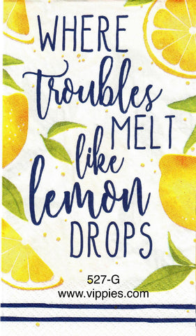 FD-527 Lemon Drops Guest Napkin for Decoupage