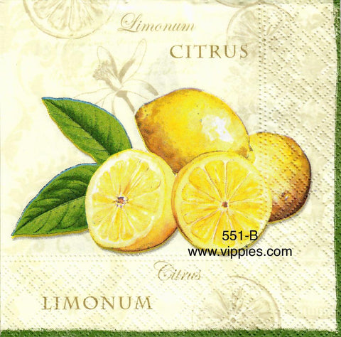 FD-551 Limonun Napkin for Decoupage