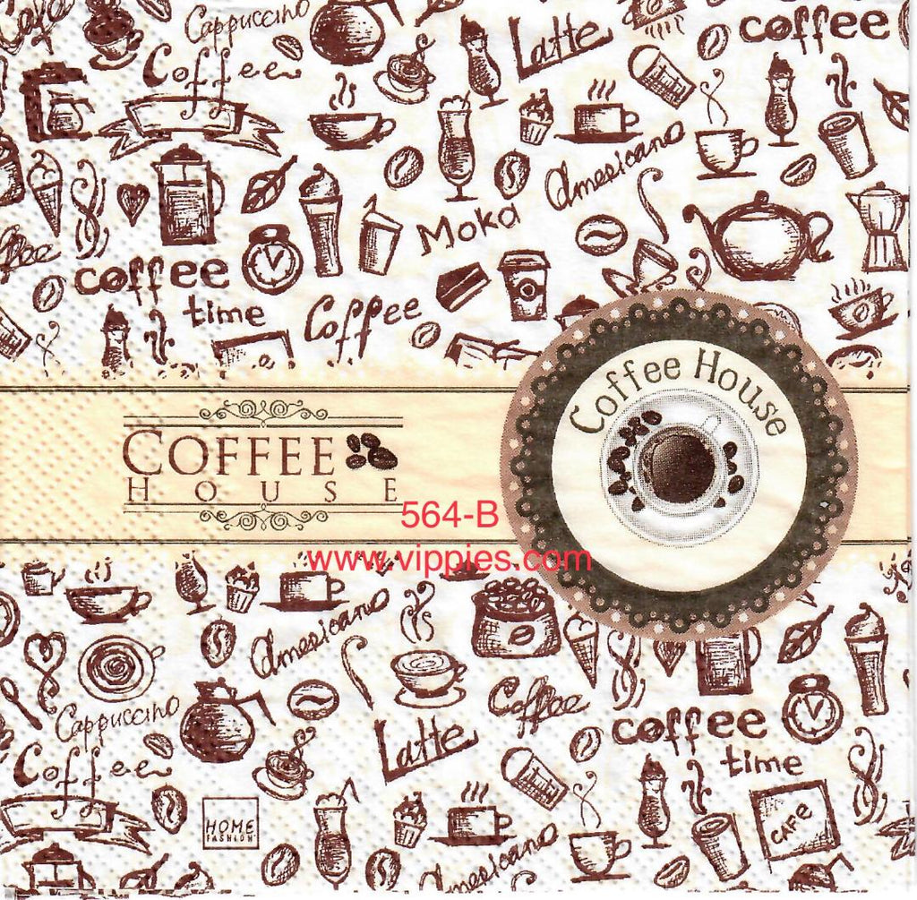 FD-564 Coffee House Napkin for Decoupage