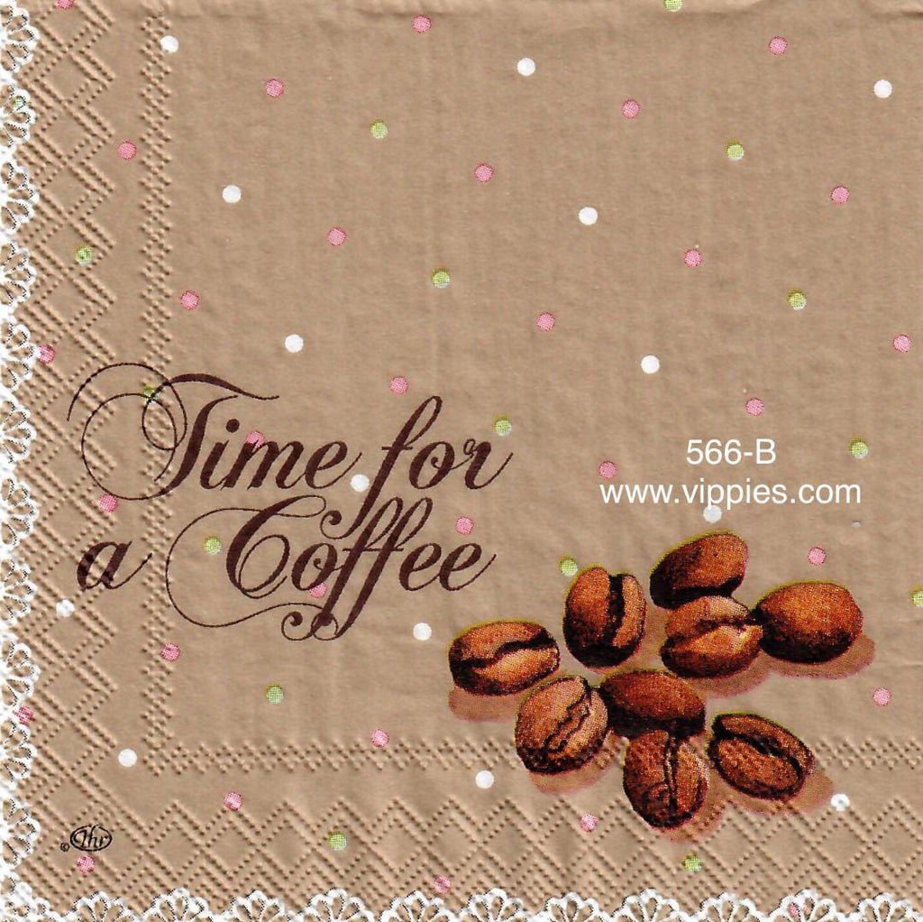 FD-566 Time for Coffee Napkin for Decoupage