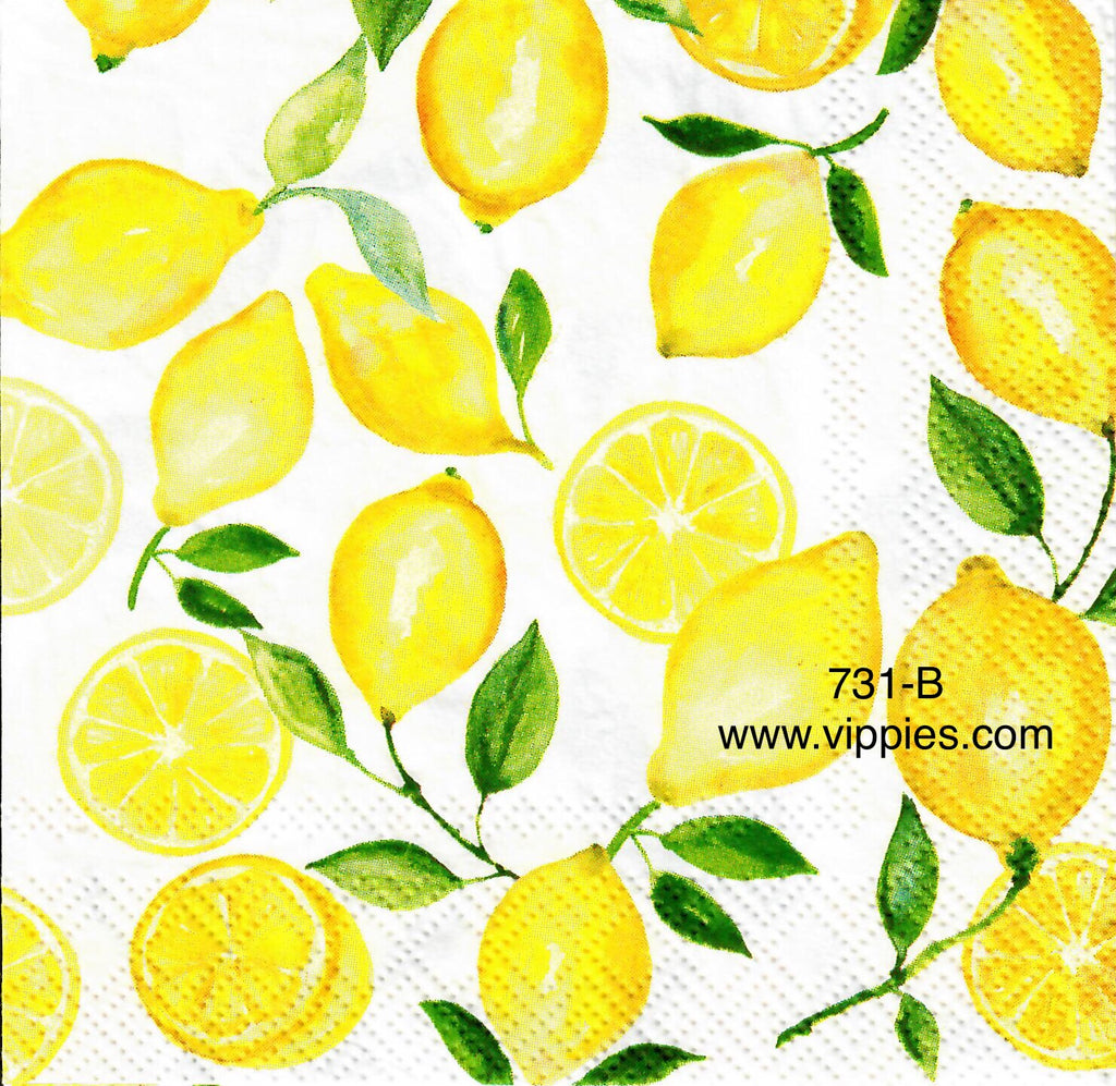 FD-731 Little Lemons Napkin for Decoupage