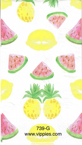 FD-739 Summer Fruit Guest Napkin for Decoupage