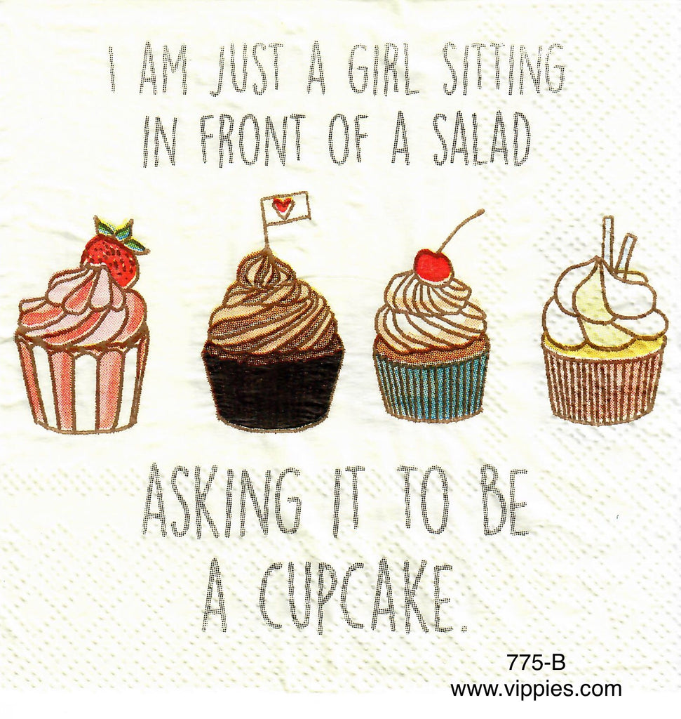FD-775 Cupcakes Not Salad Napkin for Decoupage