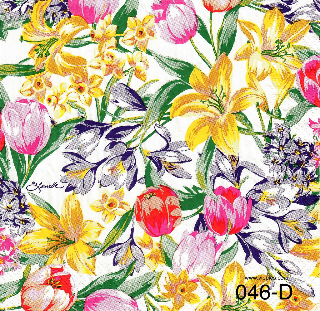 FL-046 Tulip/Lily Napkin for Decoupage