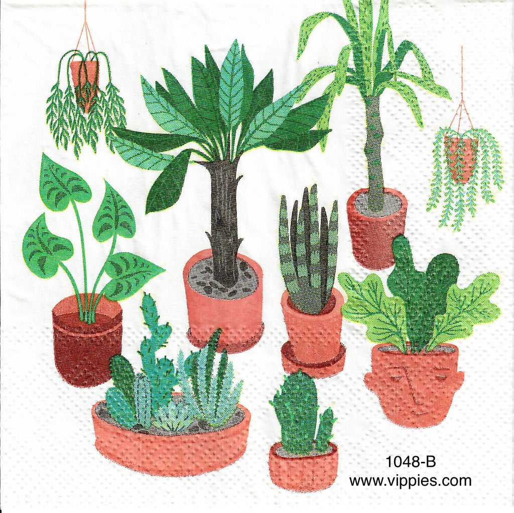 FL-1048 Terra Cotta Plants Napkin for Decoupage