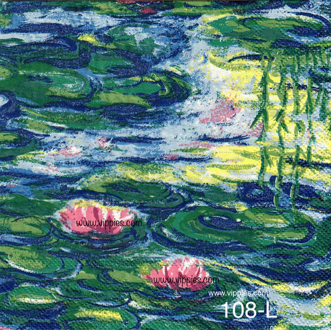 FL-108 Water Lilies Napkin for Decoupage